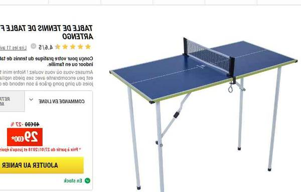 Table de ping pong à donner : prix abordable – enfin disponible – pratique